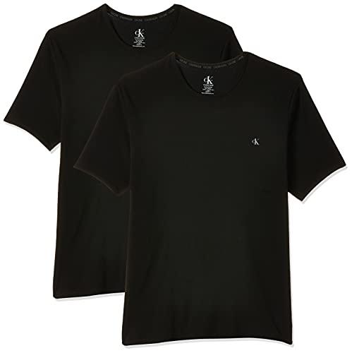 Calvin Klein Piżama męska top (2 sztuki), Czarny (czarny 001), XL