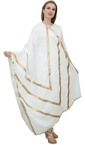 Phagun Diseñador de las mujeres indias Chunni algodón Dupatta étnico robó las bufandas