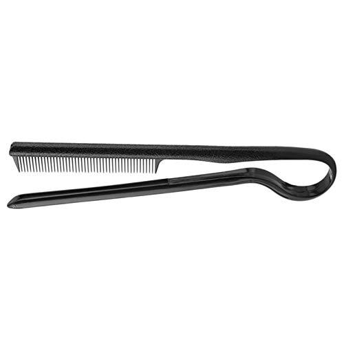 KSFBHC V Dritti Pettine dei Capelli Taglio di Capelli Parrucchiere Antistatico Combs Pennello Folding Strumento di Styling (Color : Black)
