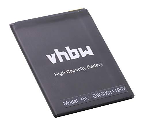 vhbw Li-Polymer Akku 2500mAh (3.8V) passend für Handy Smartphone Telefon Wiko Pulp 3G, Rainbow Jam 4G, Robby