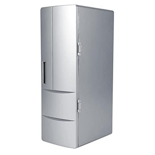 Beber más caliente refrigerador bebida hogar inteligente ordenador personal Refrigerador refrigerador refrigerador cocina bebida congelador refrigerador ( Color : Silver , Size : 12.5*8.3*24.8cm )