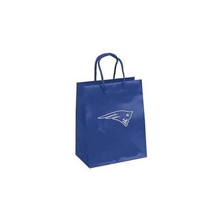 Pro Specialties Group NFL New England Patriots Gift Bag, Navy/Silver, One Size
