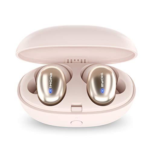 [Generation 2] 1MORE Stylische echte kabellose Ohrhörer, Bluetooth 5.0, 24-Stunden-Spielzeit, Stereo-In-Ear-Kopfhörer mit Ladehülle, eingebautes Mikrofon, alternativer Kopplungsmodus.