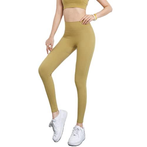 QTJY Pantalones de Yoga elásticos de Cintura Alta y Levantamiento de Caderas, Entrenamiento de Gimnasia, Correr, Hacer Ejercicio, Medias de Secado rápido BL