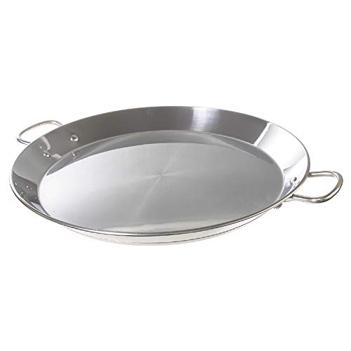 4. Garsima – Paellera de acero inoxidable de 40 cm de diámetro