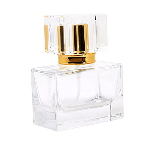 DYNWAVE 30 ml frasco de perfume vazio recarregável de cristal transparente para maquiagem