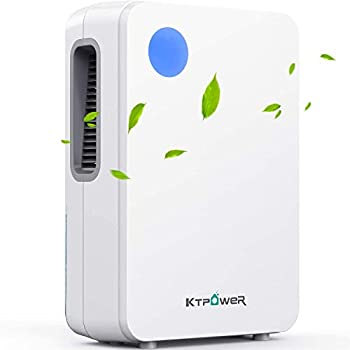 KTPOWER Dehumidifiers for Home 4800 Cubic Feet  500 sq ft  2000ml  68 oz  Ultra Quiet Dehumidifier and Portable for High Humidity for Large Room or Basements Bedroom Bathroom Kitchen Auto Shut off