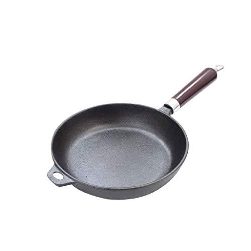 Wok de acero al carbono, Cacerola de wok anodizado duro, wok de inducción antiadherente, sartén de multifunción adecuada con asa