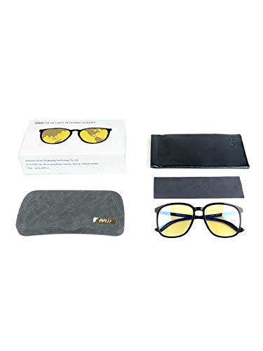 AA99 Blue Light Blocking Computer Glasses for Women Men Fashion Oversized Sunglasses Anti Digital Eyestrain Glare UV
