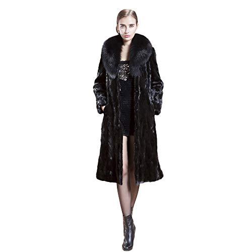 BHYDRY Chaqueta de Abrigo de Piel sintética Larga para Mujer de Invierno Parka de Invierno Prendas de Abrigo