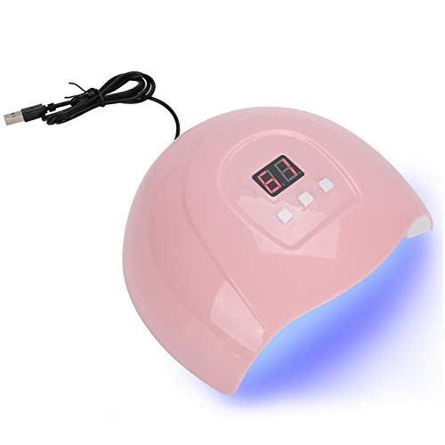 54W Lámpara de uñas Secadoras de uñas para gel y esmalte de uñas regular Gel de curado 18 chips de luz LED Sensor inteligente Luz de secado de esmalte de uñas