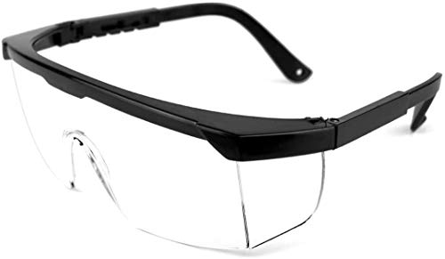 Berku safety glasses with integrated side protection - eye protection with clear, fog-free, scratch-resistant and UV protective coated lenses