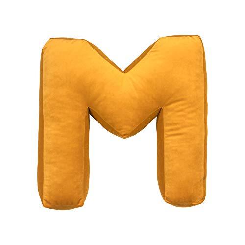 Almohada de terciopelo con letra A-Z y almohada con inicial suave, cojín decorativo del alfabeto para habitación de niños, decoración de guardería, regalo para bebé