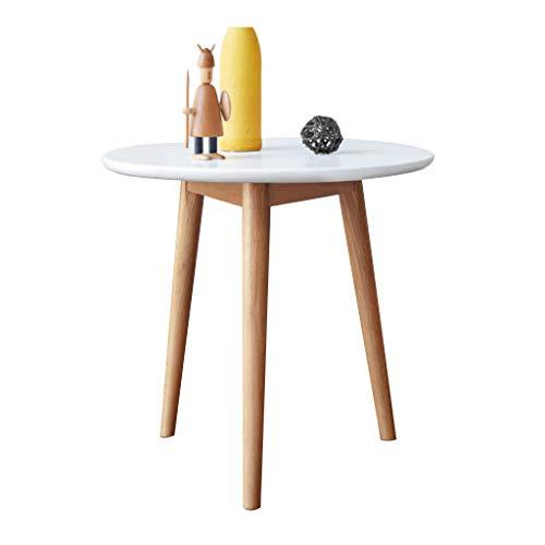 Coin tout en bois massif Table d'appoint canapé Mini table basse Table ronde simple dans le salon (Color : Wood, Size : 50 * 50 * 50cm)