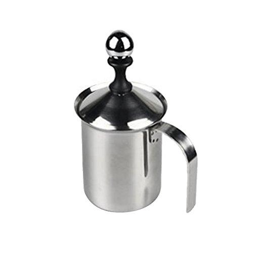400ml Edelstahl Milchaufschäumer mit Doppelsieb Für Milch Milchschaum Kaffee