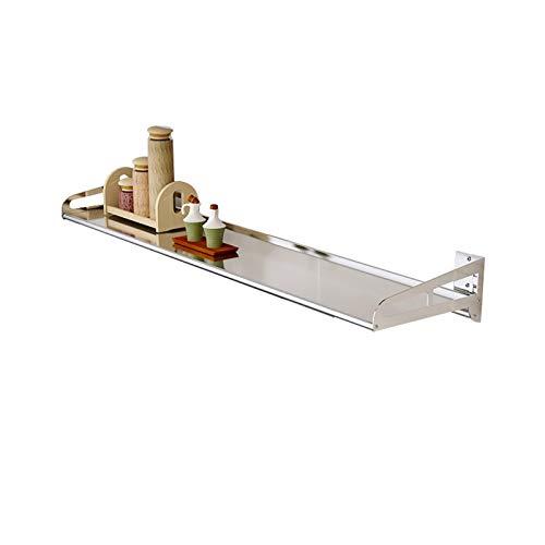 LYQQQQ Almacenamiento De Cocina Rack Multifuncional Montaje en Pared Muro de Acero Inoxidable Rack de Almacenamiento (Size : 80cm)