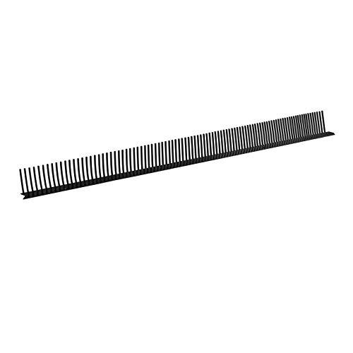 10 Stück Traufentlüftungskamm 60 mm x 1 m Trauf Kamm Traufe Belüftung (Schwarz)