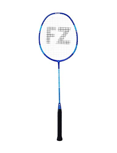 FZ Forza Precision 1000 Badminton/Squash Racket, 3U-G5, 86 g, Silver, Medium Balance with Flexible Shaft, for All-Round Players, Strung, Max. Tension at 23-24 lbs, Racket Cover Included