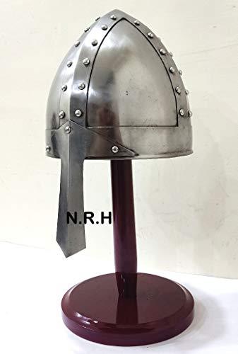 Nautical Replica Hub Medieval 18 gauge Norman Combat Helmet With Stand