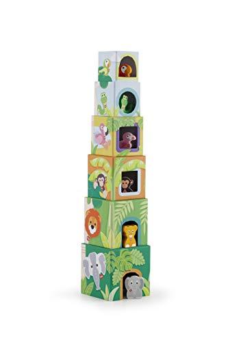 Trudi- Cubos Apilables, Multicolor (88008) , color/modelo