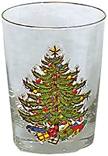 Cuthbertson Original Christmas Tree 15 oz Double Old Fashioned, Set of 4
