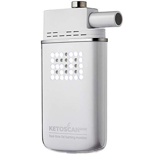 ケトン値 測定器 KETOSCAN ケトスキャン mini (呼気式) マウスピース5個付 スマホ連動 ケトーシスレベル12段階表示 ケトジェニック 糖質制限
