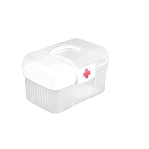 LICCC Kit di Pronto soccorso Haushalts Erste-Hilfe-Kasten Kit Aufbewahrungsbehälter for Medizin Organisation Home Use Plastic Weiß