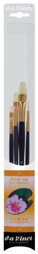 DA VINCI Oil & Acrylic Series 5269 Juego de Pinceles sintéticos universitarios, Varios tamaños, 5 Pinceles (Series 8730 y 8740), Negro/Naranja/Blanco, 30 x 30 x 30 cm