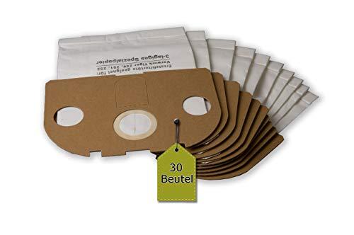 eVendix 30 Staubsaugerbeutel ähnlich FP250, FP 251, Staubbeutel, Filtertüten kompatibel mit Vorwerk Tiger 250, 251, 252