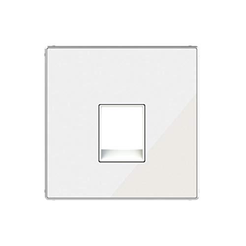 Placa de cubierta para teléfono o salida de datos, códigos 8117 y 8118, 17,2 x 15,4 x 9,9 centímetros, color blanco vidrio (referencia: 8517 CB)
