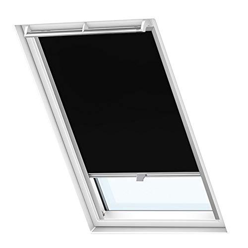 LZQ Dachfenster Verdunkelungsrollo Schwarz Thermo Sonnenschutz für Velux Fenstersysteme Dachfenster Verschiedene Größen Fenstertypen : GGL, GPL, GHL, GTL, GXL (M06/306, Schwarz)