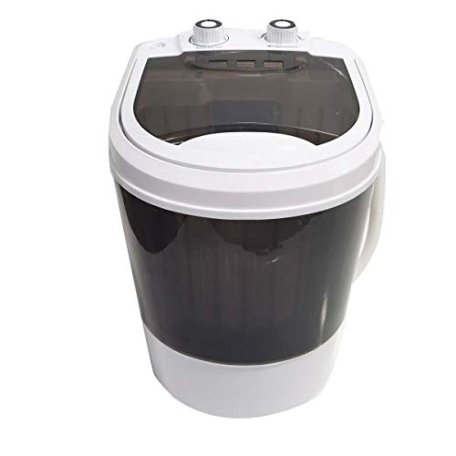 HOTSTORE Portable Washer and Dryer Combo Mini Washing Machine, Mini Washer Laundry Machine, All in One Electric Compact Laundry Machine with Single Translucent Tub for Apartment, RV, Traveling
