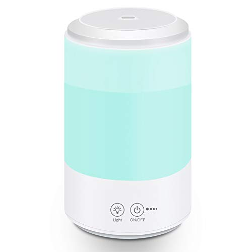 Cool Mist Humidifier, Ultrasonic Humidifiers for Bedroom Baby, 3L Large Humidifier with 7 Colors Light, Personal Desktop Humidifier with Adjustable Mist Levels, Auto Shut-Off Super Quiet for Home