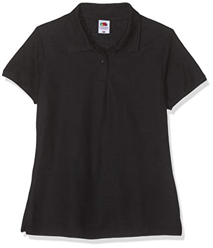 Polo-Shirt * 65/35 Polo * Fruit of the Loom * XXXL * Schwarz Schwarz,XXXL
