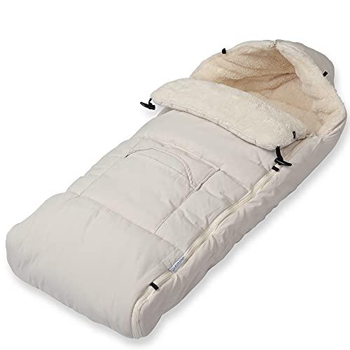 Monzana Saco para bebé Beige 93x56cm Saco de dormir multiuso Manta para cochecito asiento portabebés
