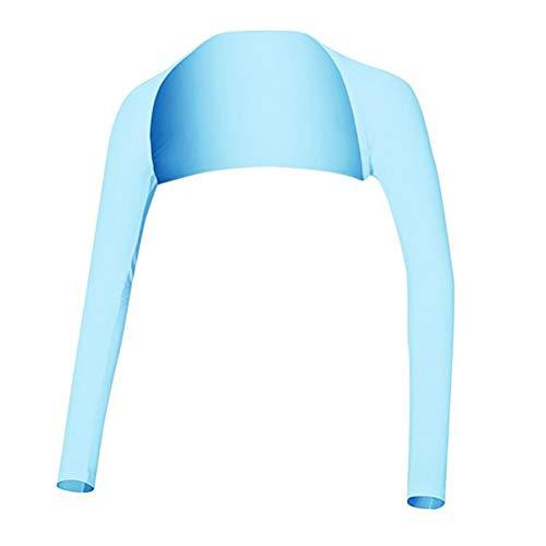 Creacom Frauen Sommer Golf Schal Arm Ärmel, Frauen Sommer Golf Schal Arm Ärmel Schal Ärmel Eisseide Sonnenschutz Ärmel UV-Schutz Kleidung für Outdoor-Sport Blau