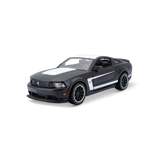 Maisto M31269 Ford Mustang 1:24, Negro Mate y Blanco