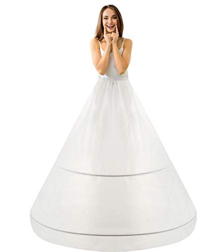 Reifrock bruidsjurk petticoat onderrok, rijfrock A lijn 2 ring verstelbaar crinoline dames / meisjes lang Underskirt voor trouwjurken baljurken avondjurken bruidsjurken Promjurken
