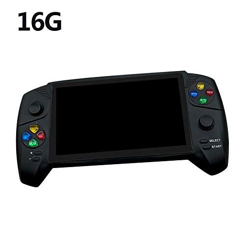 jinclonder Consola de Juegos de 7 Pulgadas Pantalla Grande Arcade Family Rocker Doble PSP Gameboy portátil Retro nostálgico GB TV Consola de Juegos botón, Joystick, Mango de Alta definición