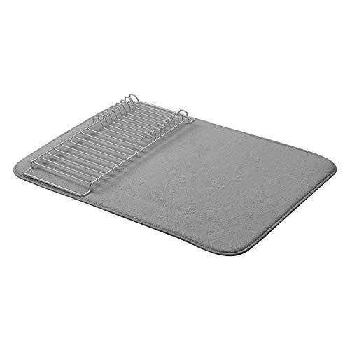 AmazonBasics - Estantería de secado, 46 x 61 cm, color carbón/níquel, con 2 esterillas