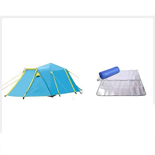 DWJ-Z Zelt, Draussen 3-4 Leute Komplett Automatisch Gewitter Camping Feld Haushalt (Color : A)