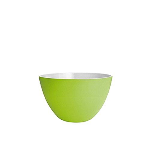 ZAK Designs Ciotola Duo, Melammina, Verde/Bianco, 14 x 14 x 12 cm