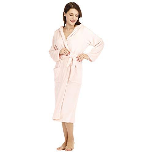 Buyall Bademantel für Frauen, doppelseitiges Flanell-Nachthemd, Lange warme Pyjamas...