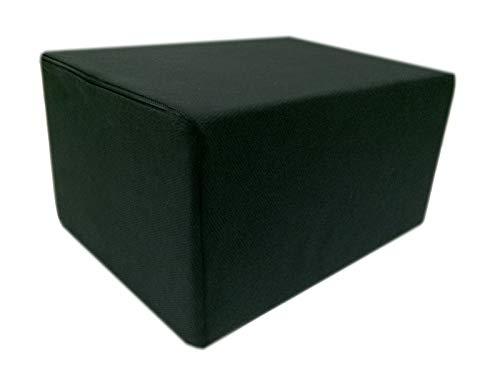 Dibapur Bandscheibenwürfel mit Schwarzen Bezug, Stufenlagerung, Stufenlagerungswürfel, Stufenbett, Reha, Orthopädischer, Positurkissen, Lagerungskissen, Stufenlagerung - 55 cm x 45 cm x 35cm