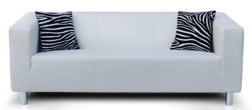 Collection AB 3-Sitzer Sofa Cube 183 x 85 x 65 cm, PU, weiß