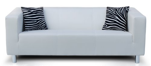 Collection AB 3-Sitzer Sofa Cube 183 x 85 x 65 cm, PU, weiß