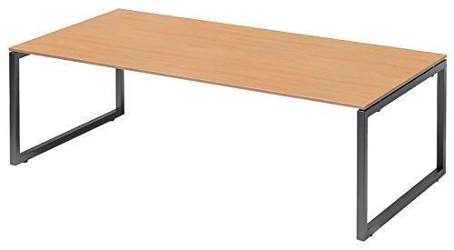 Bisley Cito Chefarbeitsplatz/Konferenztisch, 740 mm höhenfixes O, H 19 x B 2400 x T 1200 mm, Metall, Bc334 Dekor Buche, Gestell Anthrazitgrau, 120 x...