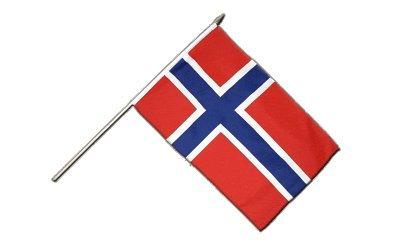 Stockflagge Norwegen - 30 x 45 cm
