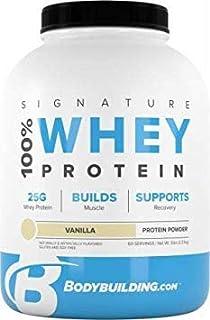 Bodybuilding Signature 100% Whey Protein Powder   25g of Protein per Serving (Vanilla, 5 Lbs)