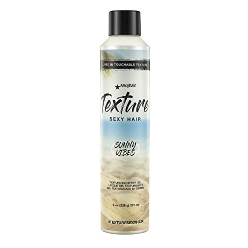 SexyHair Texture Sunny Vibes Texturizing Spray Gel, 8 Oz | Low Hold | Reduces Frizz and Tames Flyaways | All Hair Types